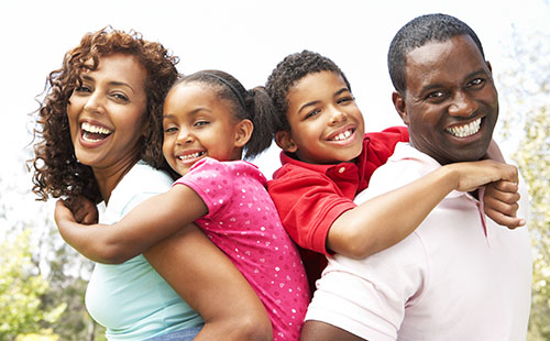 Happy Family With Affordable Health Insurance